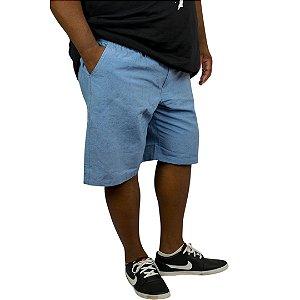 Bermuda Masculina Plus Size Sarja Cós Elástico
