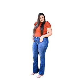 Calça Feminina Plus Size Flare