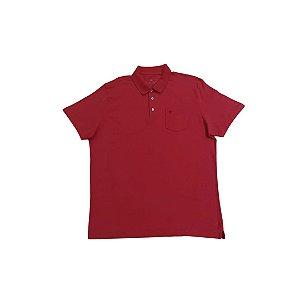 Camiseta Masculina Plus Size Polo com Bolso