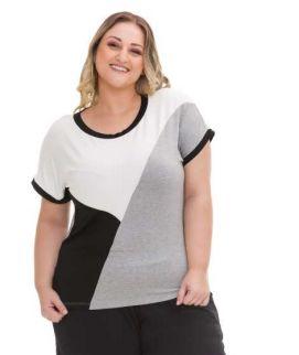 Blusa Feminina Plus Size Viscolycra