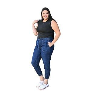 Calça Feminina Plus Size Jogger jeans