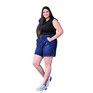Shorts Feminino Plus Size com Elástico