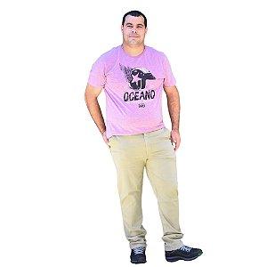 Calça Masculina Plus Size Sarja Slim Fit Básica