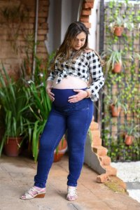 Calça Gestante Super Skinny Jeans
