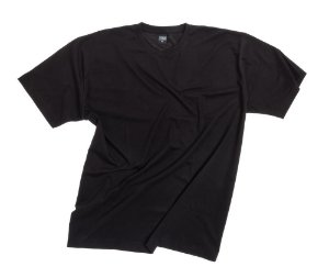 Camiseta Masculina Plus Size Gola Careca Lisa Preta