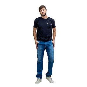 Calça Masculina Plus Size Jeans Claro com Elastano