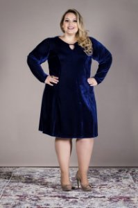 Vestido Plus Size Veludo