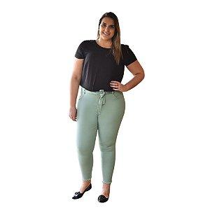 Calça Feminina Plus Size Sarja