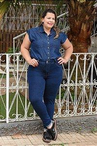 Calça Feminina Plus Size Super Skynny Cropped
