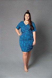 Vestido Plus Size Transpassado