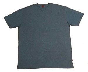 Camiseta Masculina Plus Size Gola Careca Mesclada