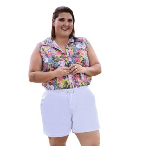 Shorts Feminino Plus Size Sarja