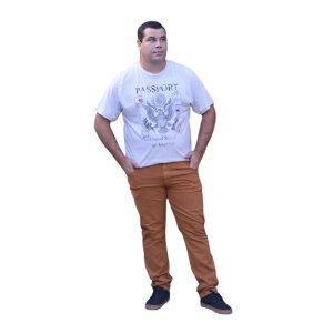 Calça Masculina Plus Size Tradicional Sarja