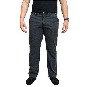 Calça Masculina Plus Size Jeans com Elastano Bolso Faca