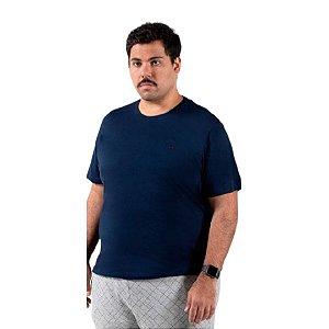 Camiseta Masculina Plus Size Gola Careca Ton Sur Ton