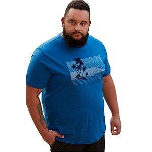 Camiseta Masculina Plus Size Careca Estampada