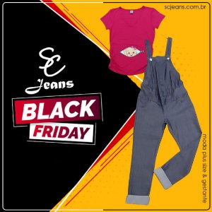 BLACK FRIDAY - Kit 1 Macacão + 1 Camiseta Divertida