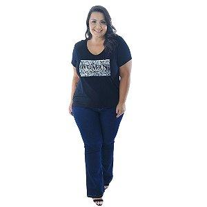 Blusa Feminina Plus Size com Silk