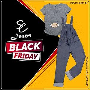BLACK FRIDAY - Kit 1 Macacão + 1 Camiseta Divertida