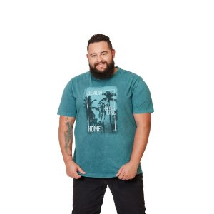 Camiseta Masculina Plus Size Careca Estonada