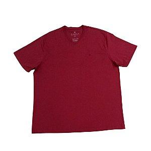 Camiseta Masculina Plus Size Gola V Ton Sur Ton