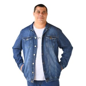 Jaqueta Masculina Plus Size Jeans