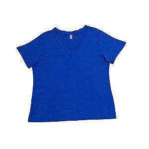 Blusa Feminina Plus Size Decote V