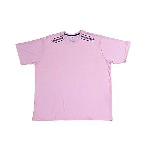 Camiseta Masculina Plus Size Gola Careca Dry