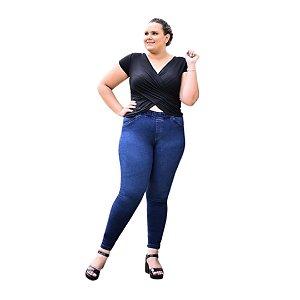 Calça Feminina Plus Size Jegging Jeans