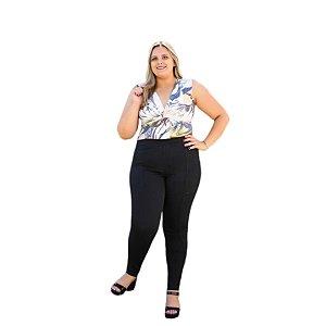 Calça Feminina Plus Size Sarja Jegging