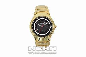 Relógio Feminino Dourado Velocímetro Mercedes C63 AMG 5841
