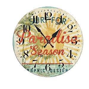 Relógio de Parede Paradise com 39 cm