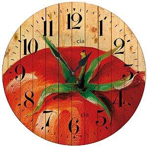 Relógio de Parede Tomate com 39 cm
