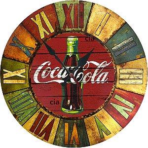 Relógio de Parede Coca Cola com 49 cm