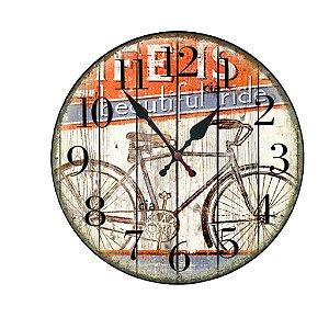Relógio de Parede bike com 49 cm