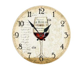 Relógio de Parede Taça Vinho com 59 cm