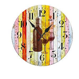 Relógio de Parede Vinho com 59 cm