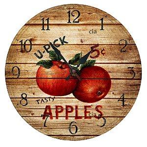 Relógio de Parede Apples com 39 cm