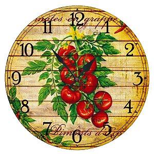 Relógio de Parede Tomates com 39 cm