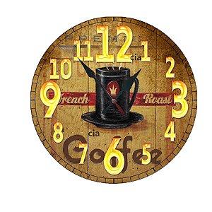 Relógio de Parede Chícara com 39 cm