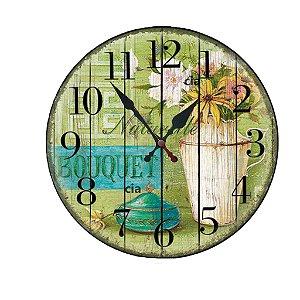Relógio de Parede Bouquet  com 39 cm
