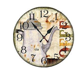 Relógio de Parede Coffe com 39 cm