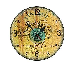 Relógio de Parede Vintage com 39 cm