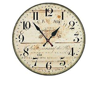 Relógio de Parede Antigo com 39 cm