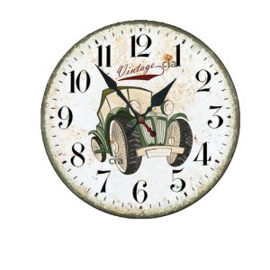 Relógio de Parede Carro Vintage com 39 cm
