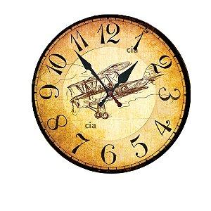 Relógio de Parede Avião Vintage com 39 cm