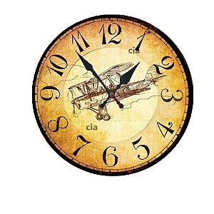 Relógio de Parede Avião com 49 cm
