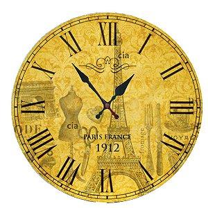 Relógio de Parede Paris com 49 cm