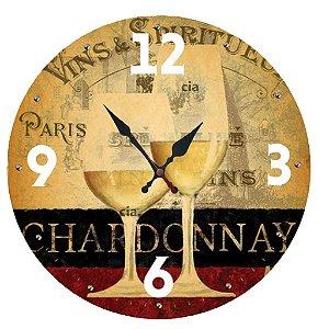 Relógio de Parede Taças com 49 cm