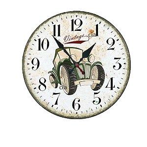 Relógio de Parede Carro Vintage com 59 cm
